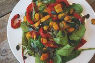 winterse salade met pompoen
