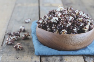 chocolade popcorn maken