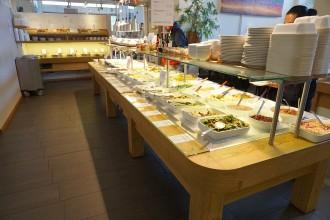 het vegetarisch en biologisch buffet bij restaurant Spirit