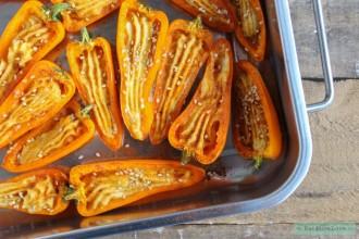 Gevulde paprika met hummus uit de oven-4