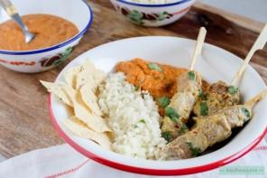 Tikka masala curry met kruidige lamsspiesjes-5