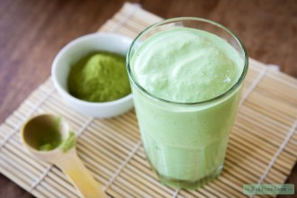 matcha smoothie met kokosmelk