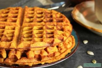 Pumpkin Waffles / Thanksgiving Breakfast, selective focus