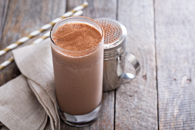 Chocolade smoothie met amandelmelk