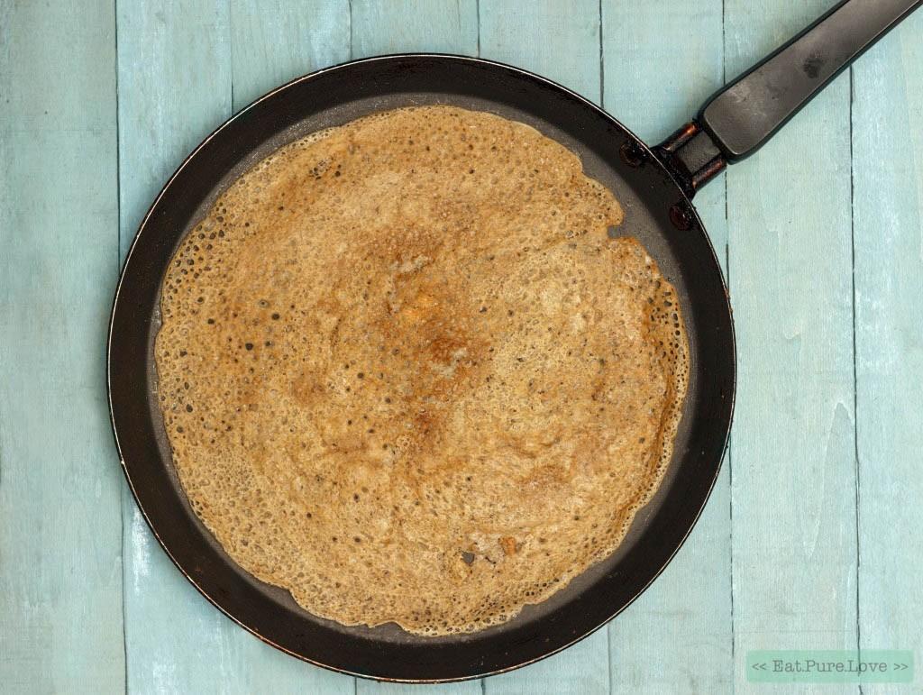 Het recept voor spelt pannenkoeken