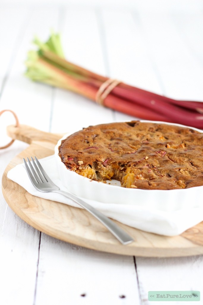Glutenvrije clafoutis van rabarber