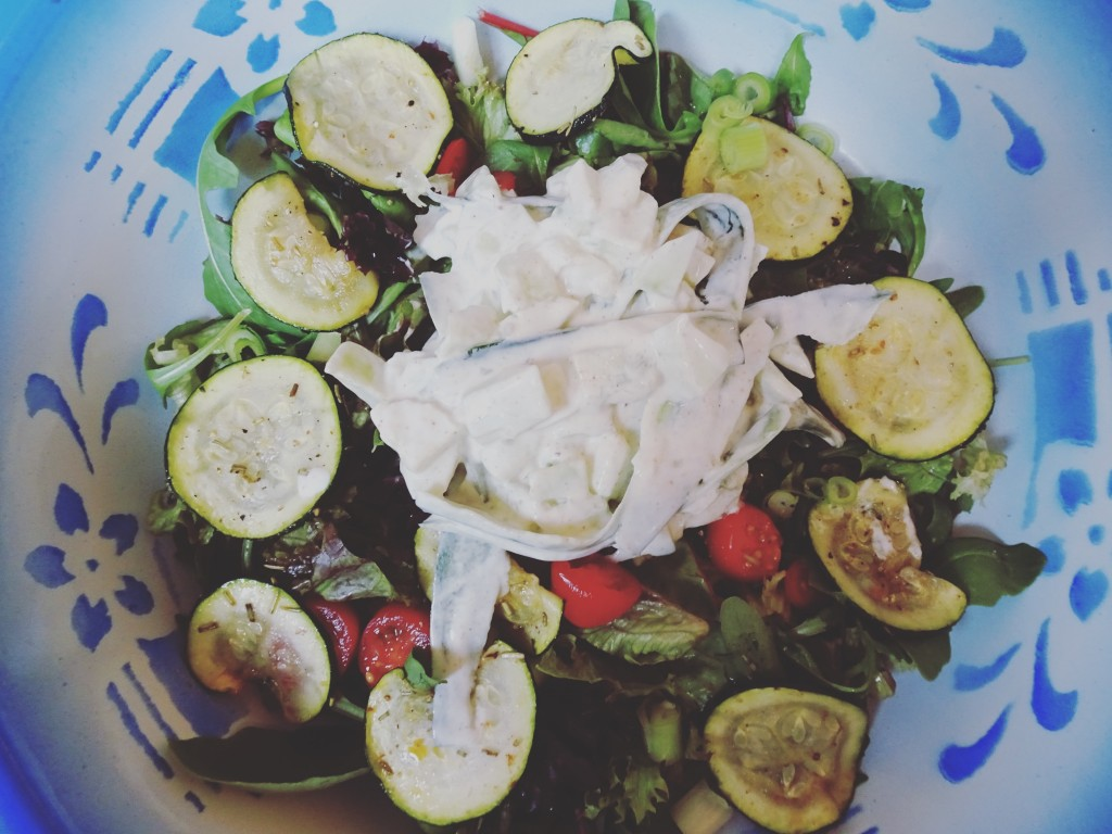 courgette-salade