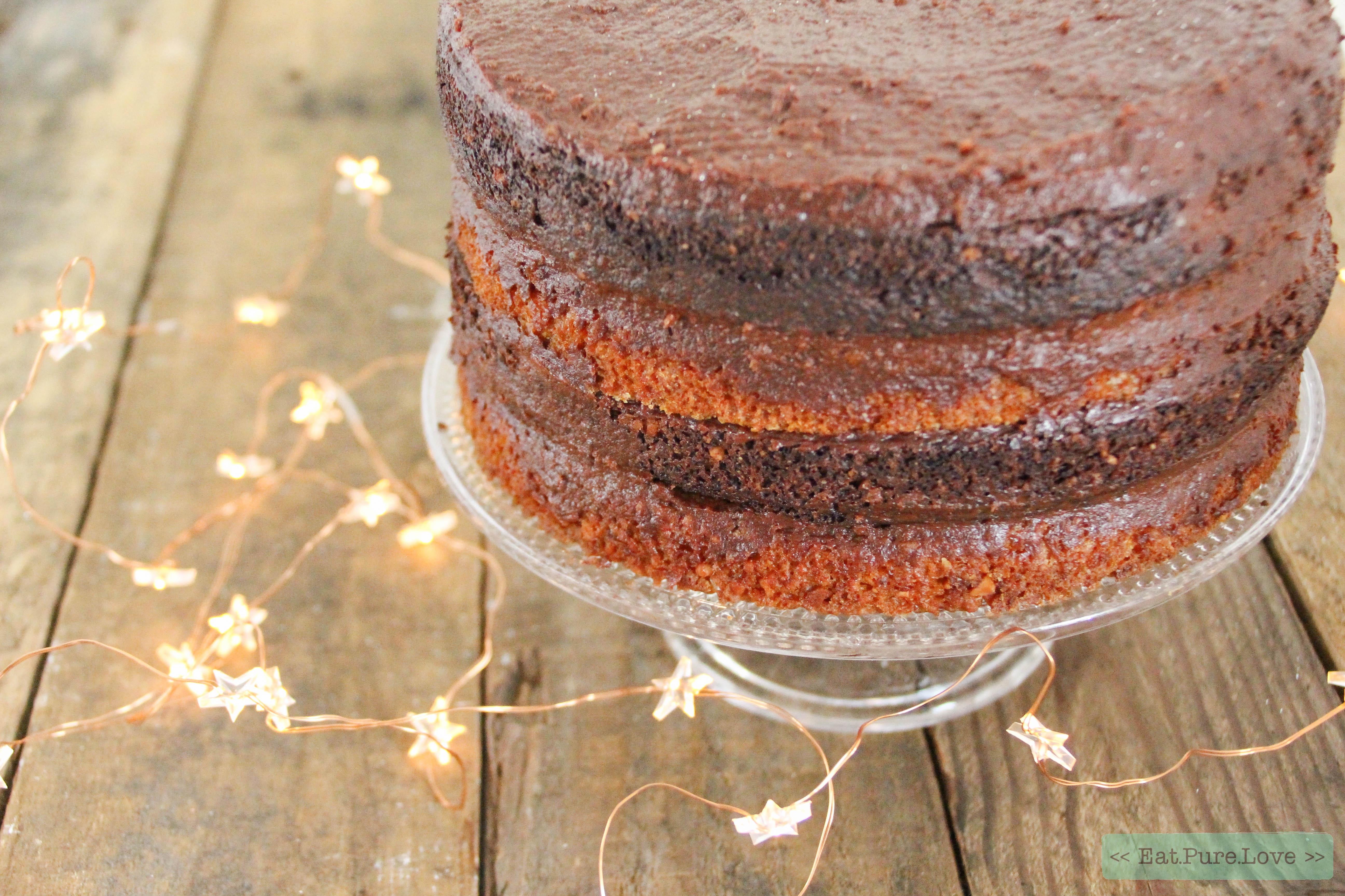 Glutenvrije chocoladetaart met sinaasappel