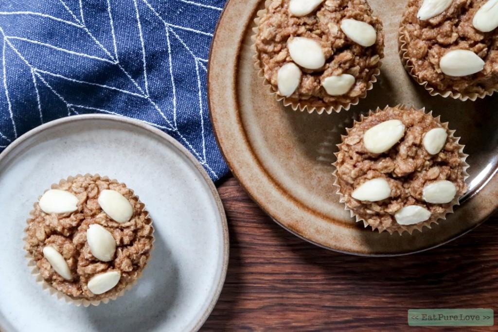 Ontbijtmuffins met havermout en appel