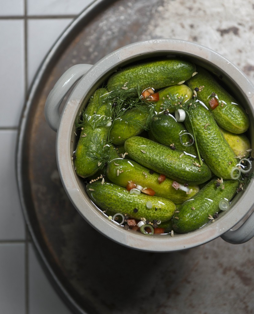 Gefermenteerde komkommer augurkjes
