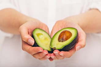 Eetbaar gezichtsmasker van avocado