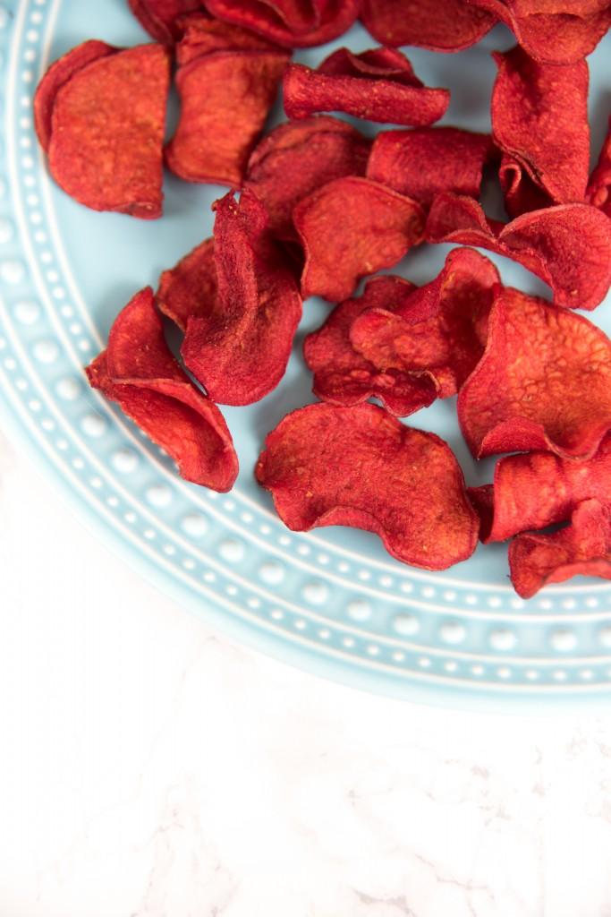 Chips van rode bietjes