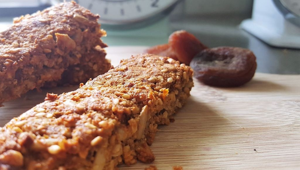 Suikervrije energierepen met abrikozen