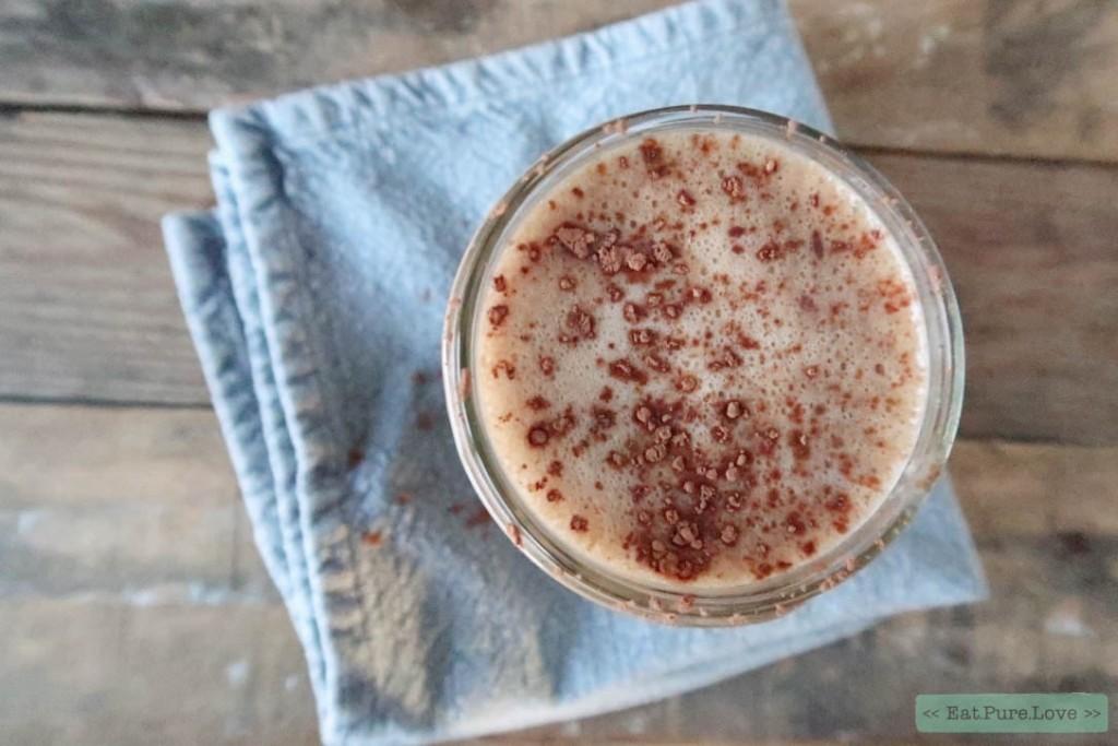 Koffie smoothie met chocolade