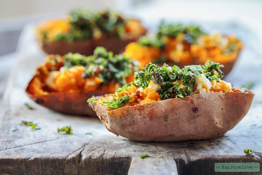 Gepofte zoete aardappel met boerenkool-1