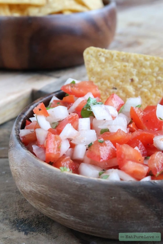 Pico De Gallo met tortilla chips