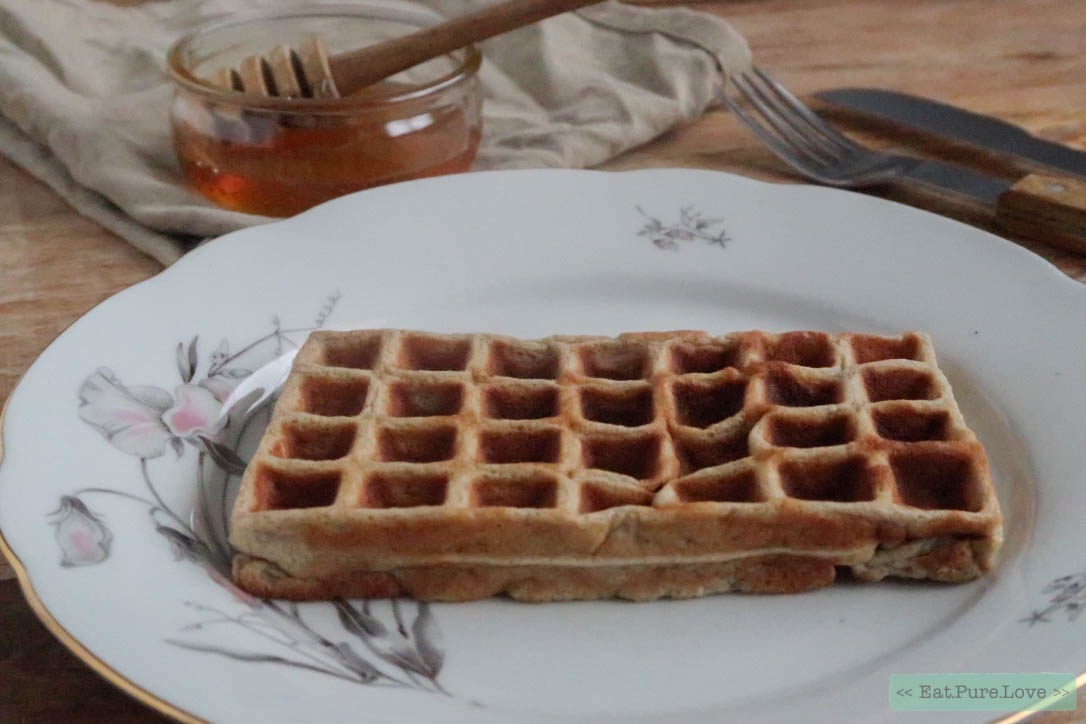 Glutenvrije havermout wafels met honing