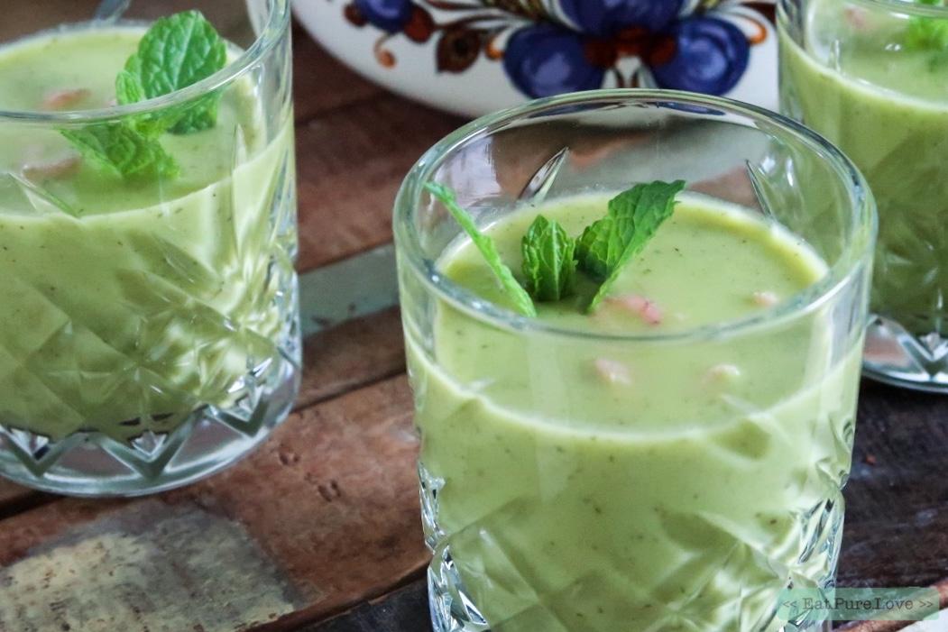 Het recept voor een frisse en koude komkommersoep