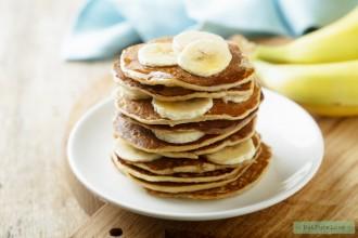 Glutenvrije vegan bananenpannenkoekjes