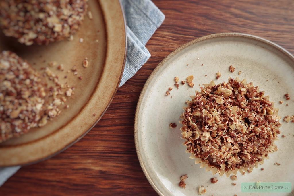 Glutenvrije appelmuffins met kruimeldeeg topping
