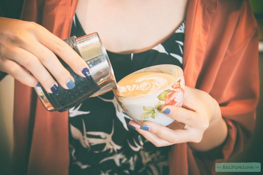 Rooibos latte met amandelmelk