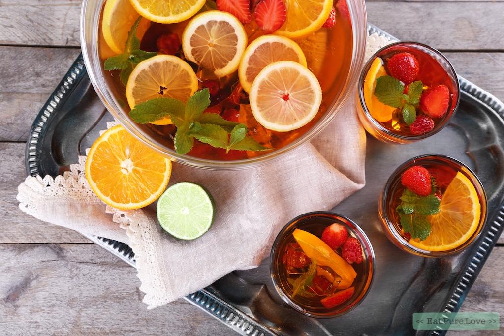 Gezonde vruchtenbowl zonder alcohol