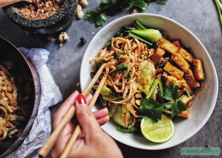 Vegetarische pad thai  met tofu