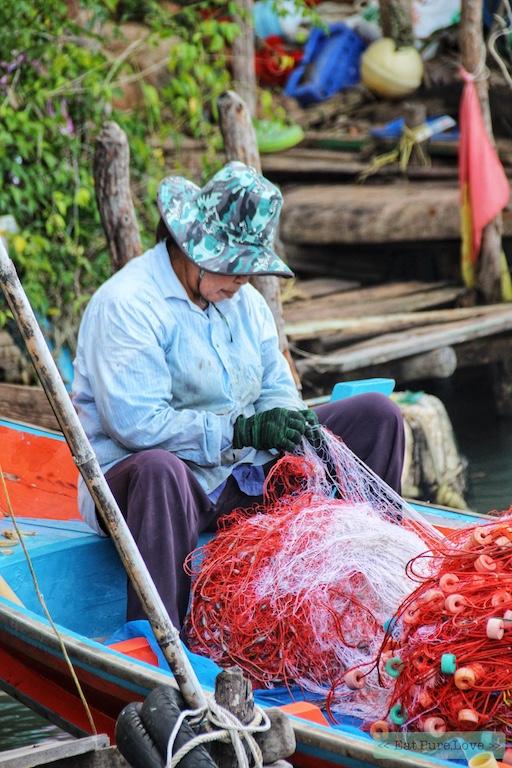 Roze dolfijnen spotten in Khanom, Thailand