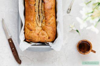 glutenvrij bananenbrood met pindakaas