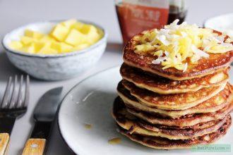Glutenvrije mango pannenkoekjes