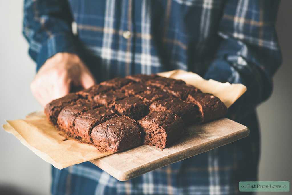 Gezonde vegan pindakaas brownies