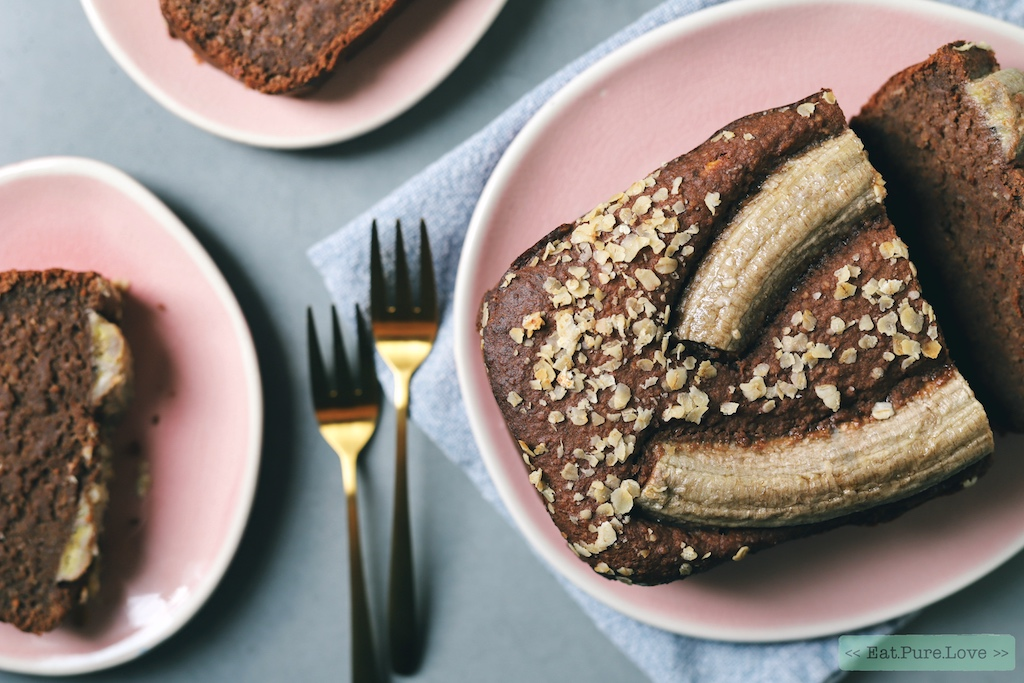 Eiwitrijk chocolade bananenbrood (en ook nog eens lekker vegan)