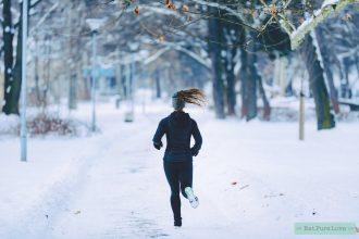 hardlopen in de kou