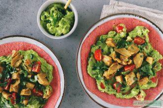 vegetarische wraps met homemade guacamole