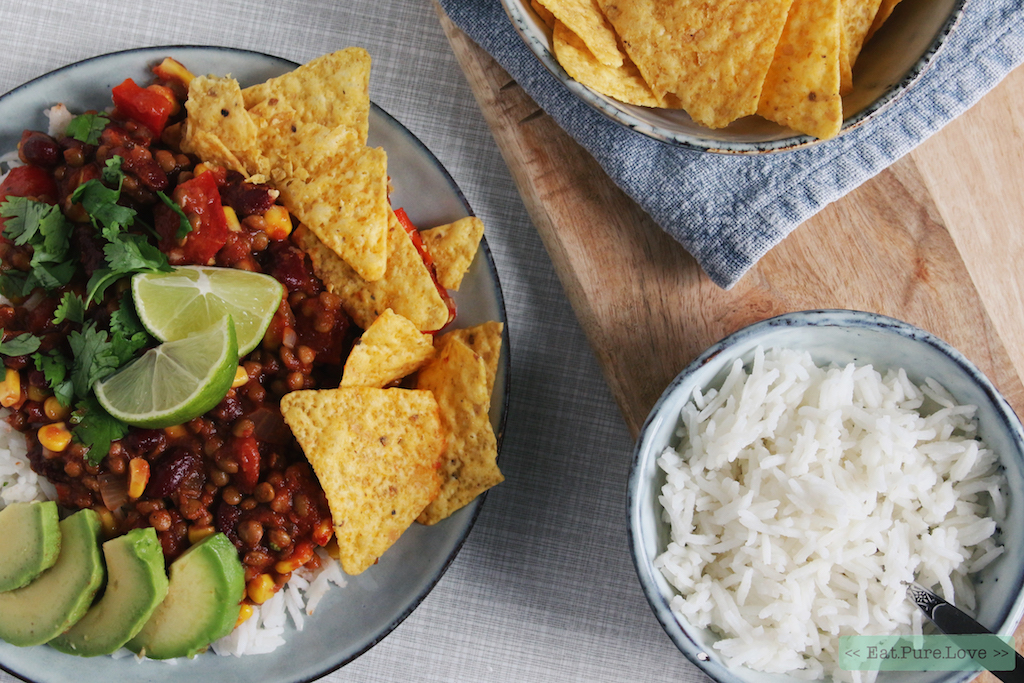 Chili sin carne: zo maak je homemade vegan chili