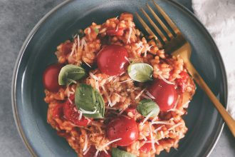 supersnelle tomaten risotto