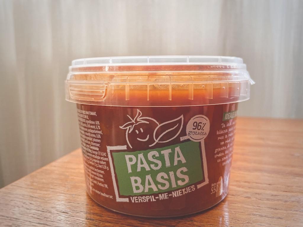 pastasaus verspil-me-nietjes van Lidl