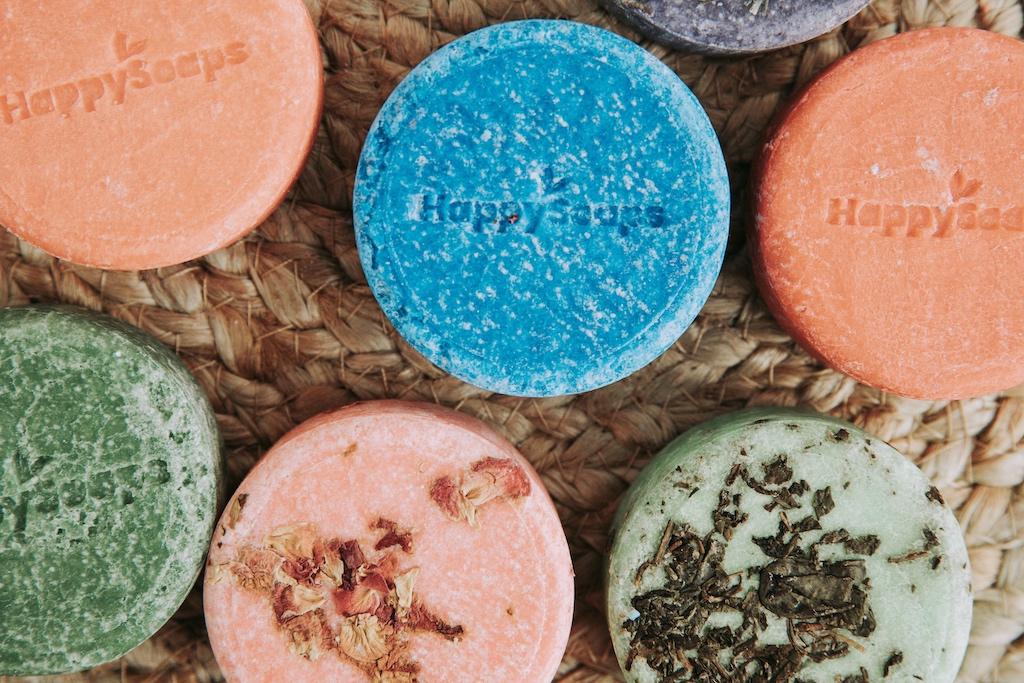 shampoo bars in verschillende kleuren